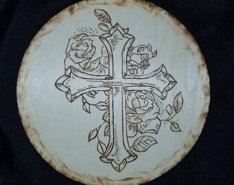 Cross woodburn