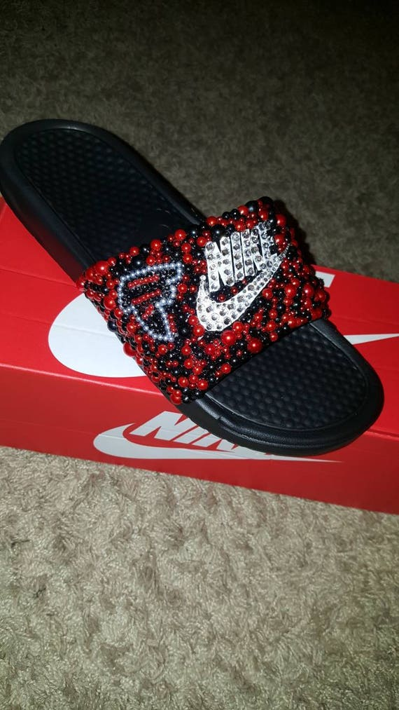 9820978626f Bedazzled Nike slides