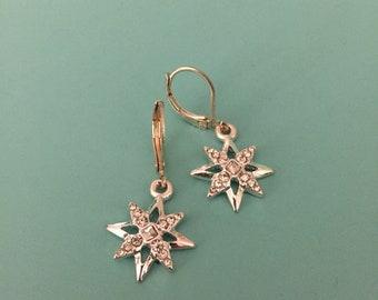 Vintage Design Earrings / Dangle Earrings / Rhinestone Earrings / Art Deco Earrings / Statement Earrings / Gift for Her/ Bridesmaid Gift