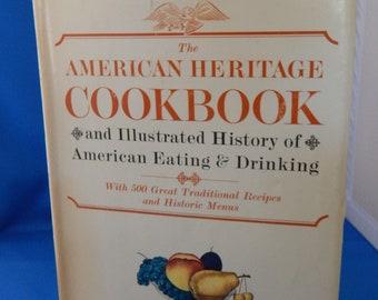 The American Heritage Cookbook, vintage cookbook, History, Recipes, Menus