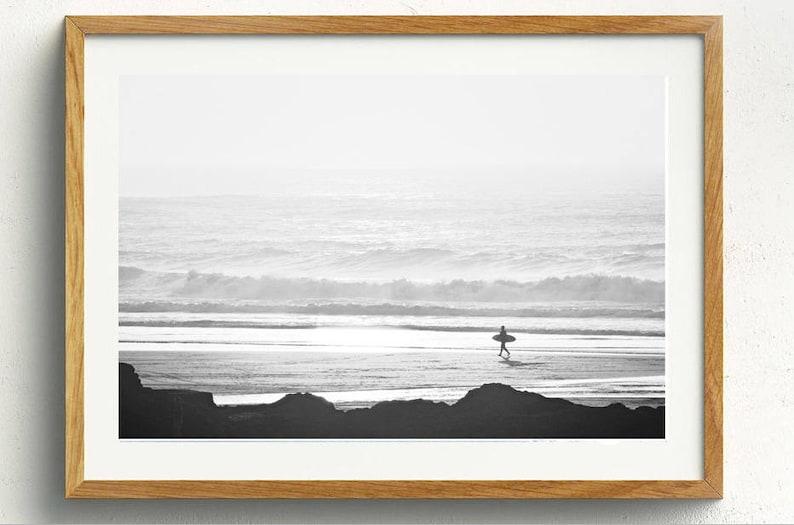 6a0dc8b378 Dos negro y blanco Surfer Digital estampados Surf foto Ocean