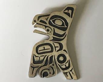 Northwest Native Sterling Eagle Pendant