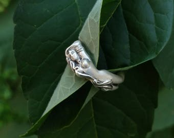 Handcrafted Sterling Silver Art Nouveau Ring