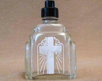Art Deco Design Holy Water Bottle