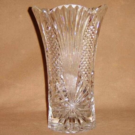 Slovakia 24 Lead Crystal Vase Etsy