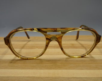 6927e771b55 Vintage Titmus Optical Z87 Safety Glasses 54  22 Large Amber Tortoise Shell  Frames