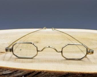 6c44e2fd9f9 Antique Coin Silver Rectangle Octagon Eyeglasses
