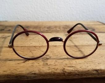 029781d77524 Vintage Unusual Shuron Windsor Zylo Wrapped Eyeglasses Small   Vintage  Sunglasses   Antique Lunettes   John Lennon Glasses   Harry Potter
