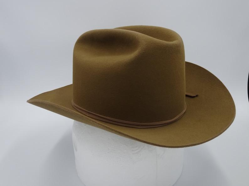 6c2b6e26480 Resistol 3X Beaver Self Conforming Cowboy Hat 7 1 4 Open