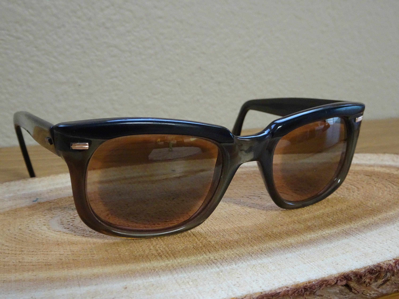 e063e741af Vintage Mikado Acetate Thick Frame Two Tone Black Brow