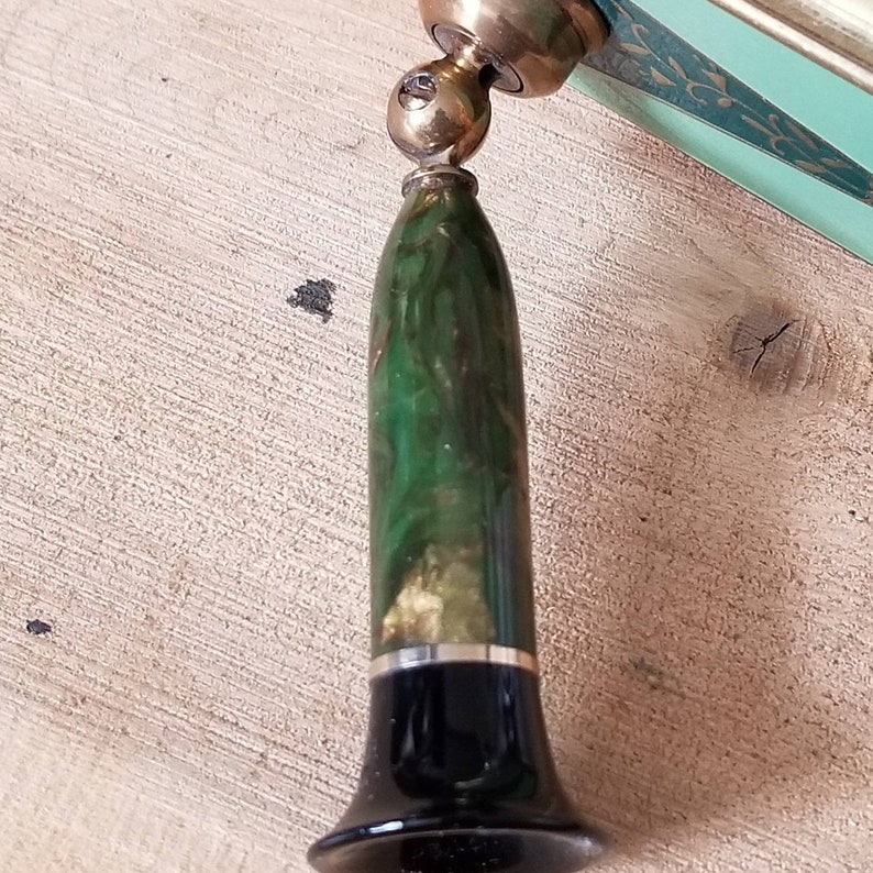 Collectible Pens Wahl Pens Vintage Desk Accessories Art Deco Gold Enameled Plated Desk Pen Holder Beautiful Tulip Vintage Pen Holder