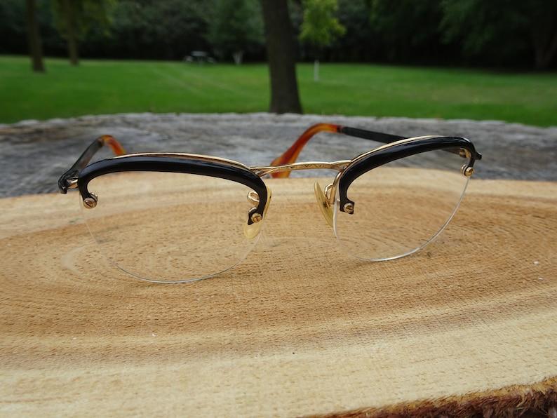 699e8c48691 American Optical Rim Way Ful Vue Numont D44 12KGF Eyeglasses Frames