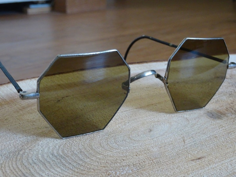 c67a7103f91 Antique Octagon Sunglasses Shooter Arms USA Antique Eye Wear