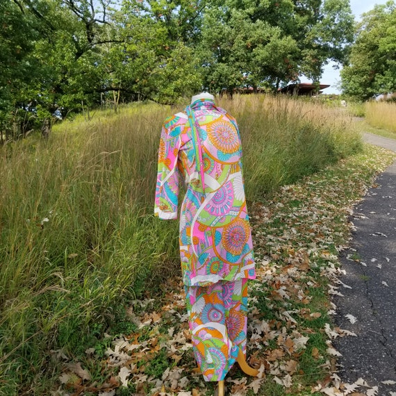 Vintage 1960's LeVoy's Floral Mod Lounge Wear Outf