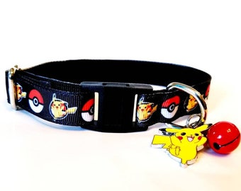 Charming Poke Ball Dog Collar Pokemon Go Blue Red Yellow