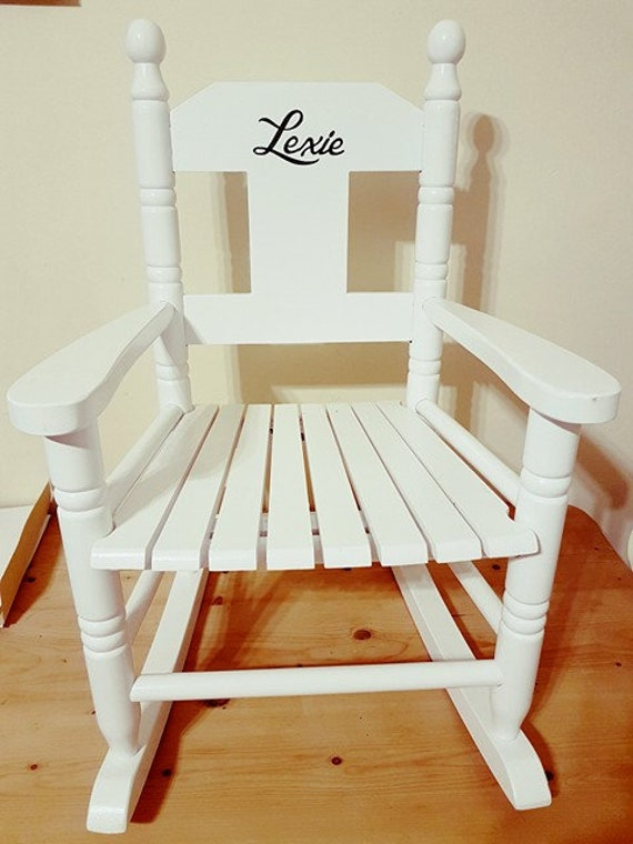 Childrens Small Rocking Chair Personalised With Childs Name From Powell Craft New Baby Gift Birthday Gift