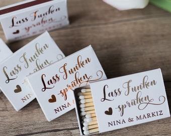 Custom matchboxes,  Gold Foil Matches, Personalized matches, wedding matches, Personalisierte, Streichhölzer, Monogrammed Matchbox