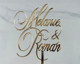 Cake Topper, Elegant Monogram, Gold Wedding Cake Topper, Initials Monogram, Cake Topper, Birthday Cake Top, Letter Cake Decoration