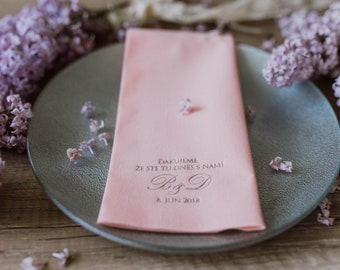 Personalized napkins, DINNER, Personalisierte Servietten,  Stoff Servietten, Hochzeit, Personalized Napkins, Wedding napkins