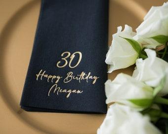 Birthday Napkins, Personalized Napkins, Happy Birthday, Birthday Party, Event Napkins, Napkins, Cheers, Custom Napkins, Decorpress