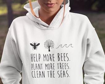 Bee Nice Hoodie Be Positive,Honey bee vegan  Fashion Hoodie  kids /& adult Sizers