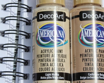 Neutral Paint Set | Acrylic Paint Set | Americana Acrylic Paint | DIY Paint | Beige Decor | Desert Painting | Cheap Paint