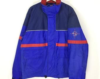Rare!!Yamaha marine equipment small logo vintage 90s colorblock jacket/yamaha motor/yachting/compass logo