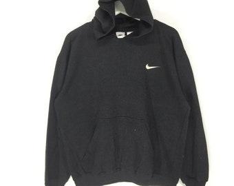 Rare!!Nike embroidered small logo vintage 90s hoodies sweatshirt retro  fashion hip hop swag 2e00be188