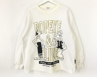 88e06d7378 Popeye and Olive vintage 90s sweatshirt/popeye the sailorman