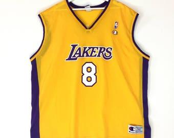 2f679664 Champion NBA Los Angeles Lakers Kobe bryant vintage basketball jersey/retro  fashion/hip hop swag fashion