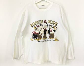899f23099e Popeye the sailor man vintage sweatshirt/popeye and olive/funny cartoon
