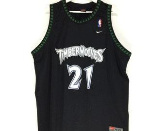 26312c88836 Rare!! Nike timberwolves kevin garnett vintage 90s jersey NBA player nike  swoosh
