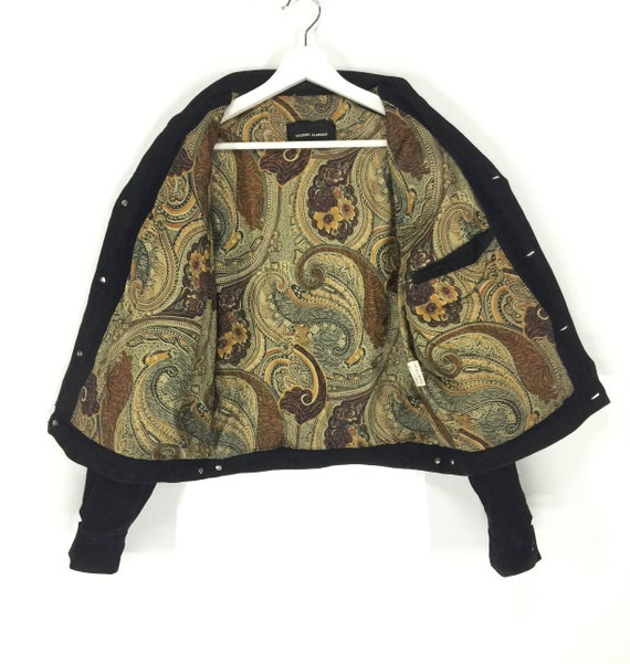 japanese trucker leather paisley jacket top Hysteric designer brand jacket lining Rare glamour H8fqwX