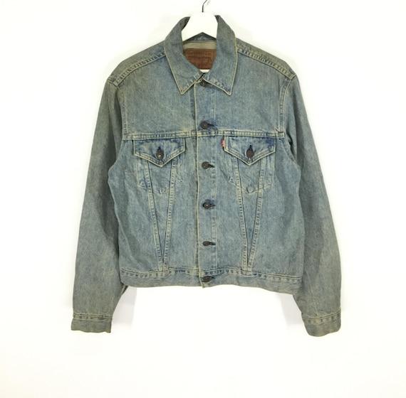Rare!! Levis big E vintage trucker denim jacket/Le