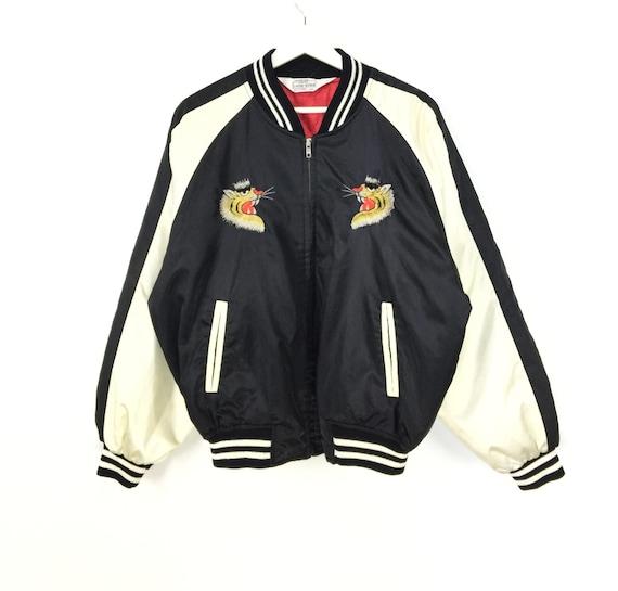 Rare!! Japanese souvenir tiger embroidered vintage