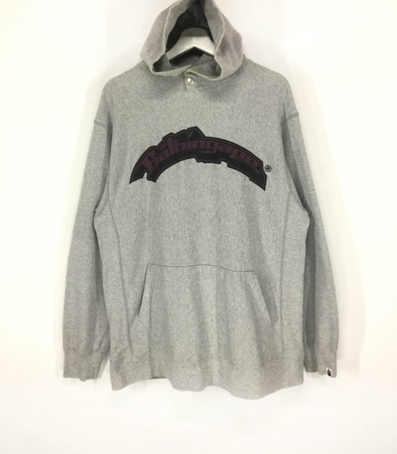 Rare!!A bathing ape creeper spellout big logo hood