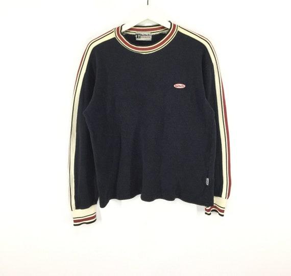 Rare!! Bitch multicolor stripe vintage 90s sweatsh