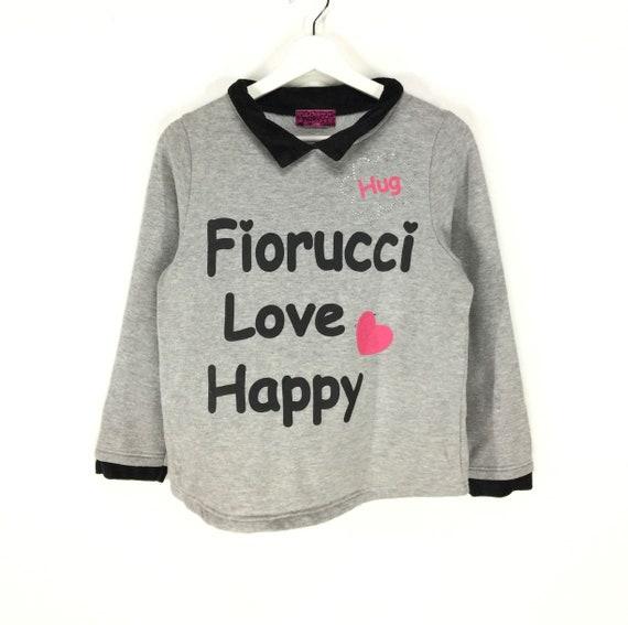 Rare!! Fiorucci love happy spell out big logo swea