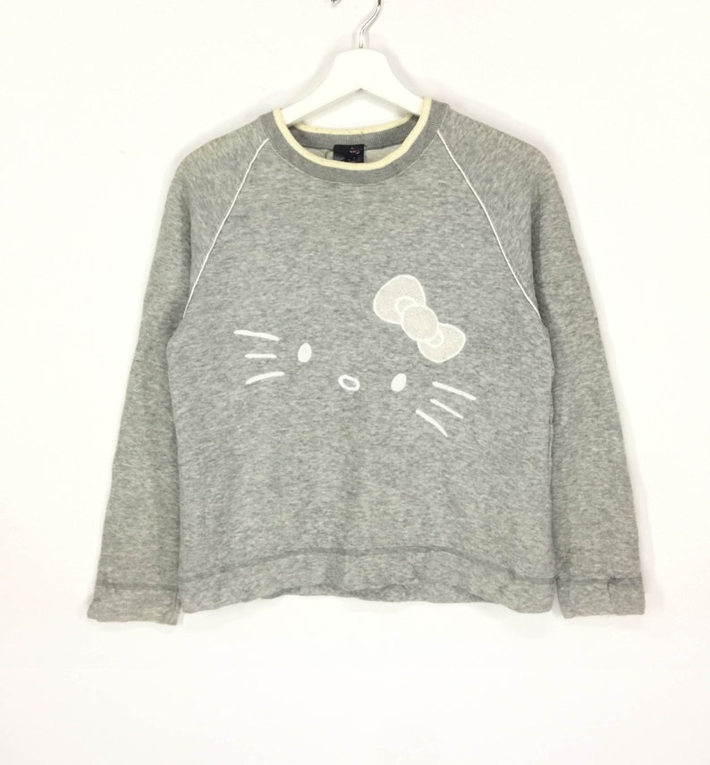 f04ba3bea RareHello kitty embroidered logo sweatshirt   Etsy