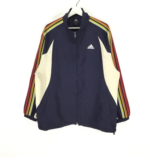 Rare!! Adidas multicolor stripe vintage jacket
