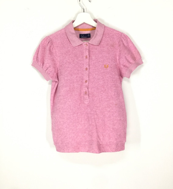 Rare!!Fred perry polo jumper/towel fabric/fred per