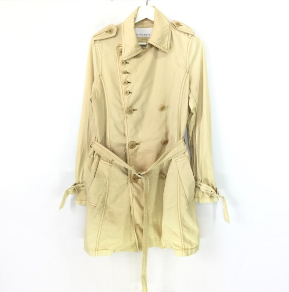Rare!! Sunaokuwahara double breasted belted trench
