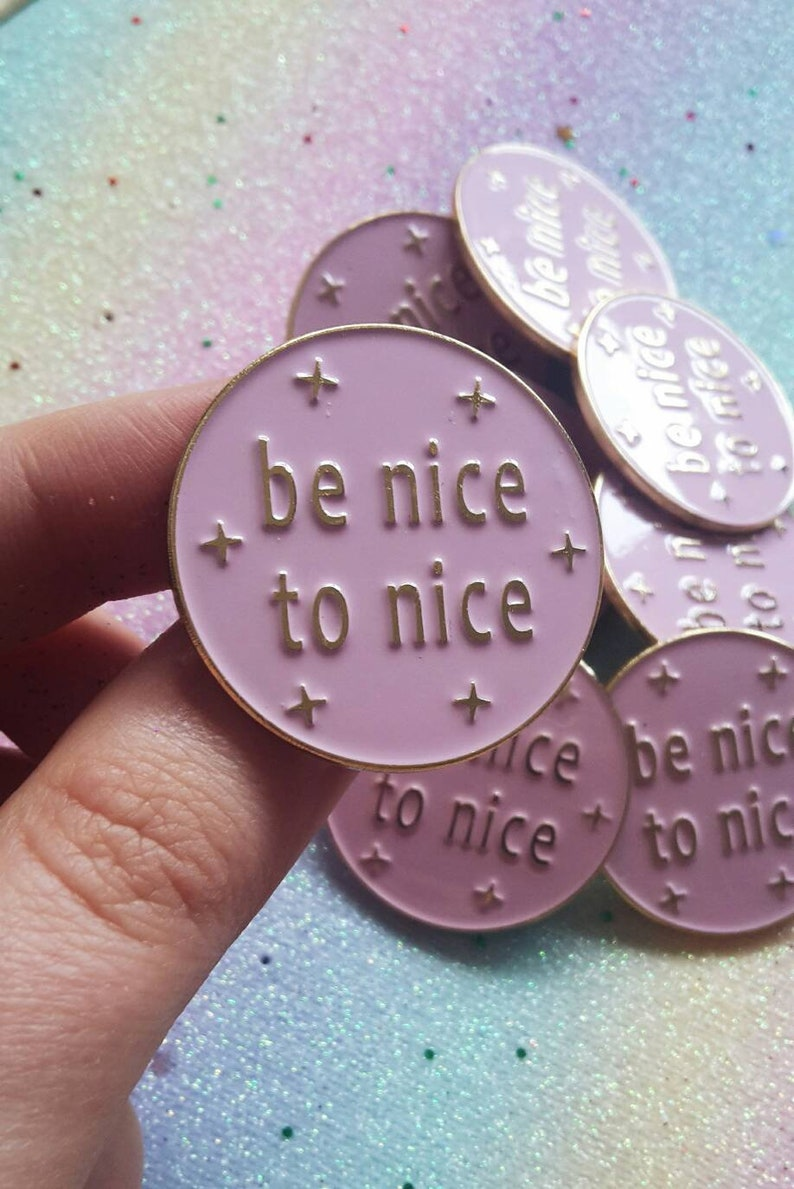 Be Nice Pin - Harry Styles Merch, One Direction Gift, Birthday Gift for  Her, Harry Styles Pin, One Direction Merch