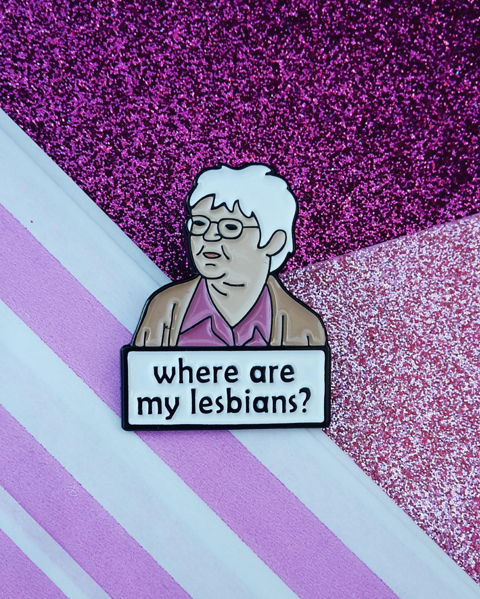 Enamel Pin Lesbians and Gays
