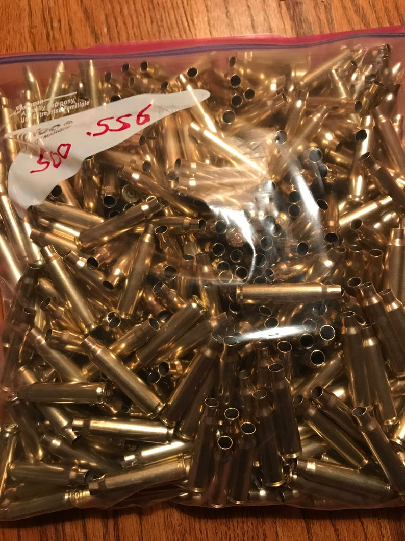 5.56 Brass Casings 500 Count image 0
