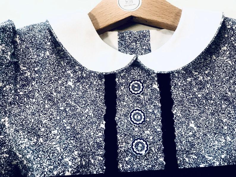 Size 2T Braided Rick Rack Trim Size 24 Months Basic Yoke Hand Made Little Girl/'s Dress