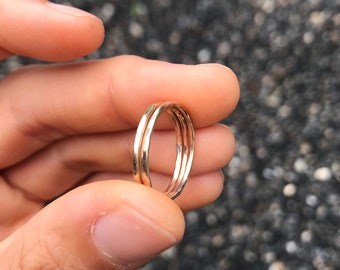 Set of 3 Hammered Stacking Rings