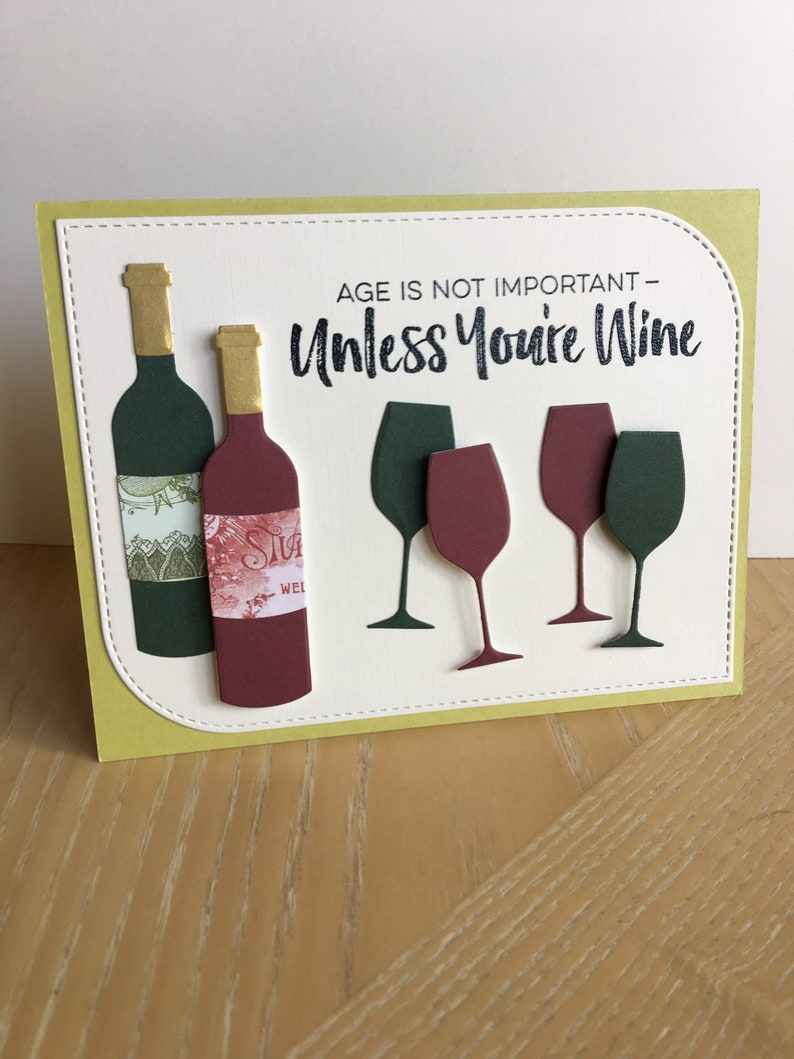 Wine Lover Card Birthday Funny And