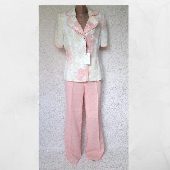 Pink Women's Pant suit Wedding Spring Classic Pant