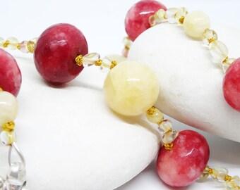 Citrine-Agate Long Necklace